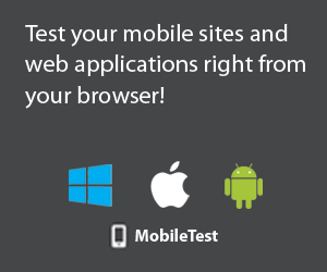 MobileTest - Test your mobile sites and web applications - EVIDWEB
